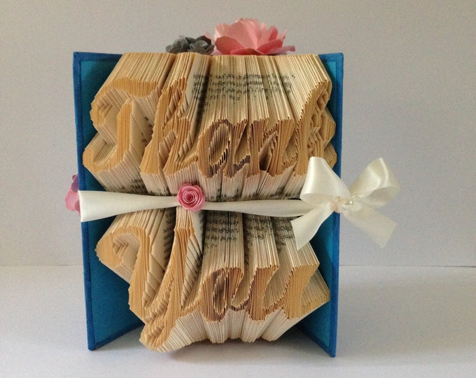 THANK YOU -Book folding art, Wedding, Gift, Special Occasion, Made to order