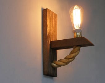Wall Lights With Rope : Wall lamp minimalist wall sconce minimal simplicity Fabric
