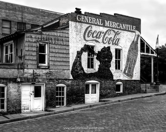 Coca Cola Fine Art Photography, Architectural Photography, General Mercantile Store, Coca Cola Fine Art Print or Wrapped Canvas