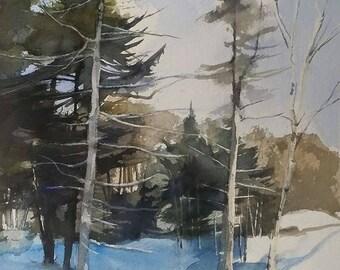 Landscape Painting, Landscape Art, Landscape Watercolor, Original Painting, Original Watercolor, Canadian Art