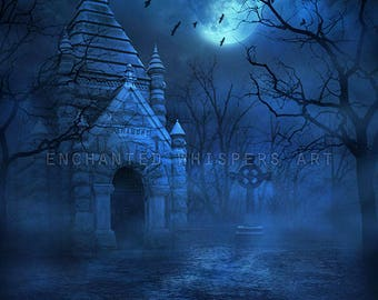 premade Halloween background for Photoshop