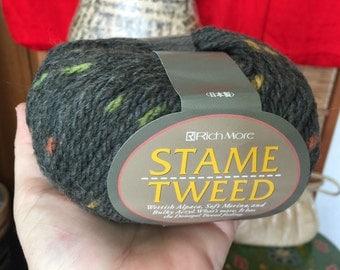 12 skeins Rich More Stame Tweed yarn olive