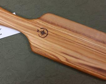 Italian Olive Miss Rose Paddles Exotic Hardwood Spanking Paddle - BOE OL044