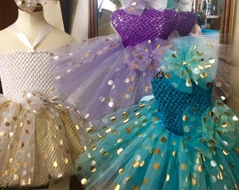 Gold& Silver polka dot Tutu Ready2Ship Perfect for: spring, Easter, OOC, pageant wear, photo prop, birthday tutu, flower girl tutu