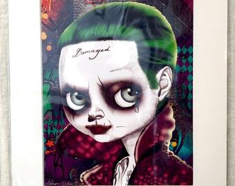 """Joker (Suicide Squad - Jared Leto) 11x14"""" Art Print by deShan"""