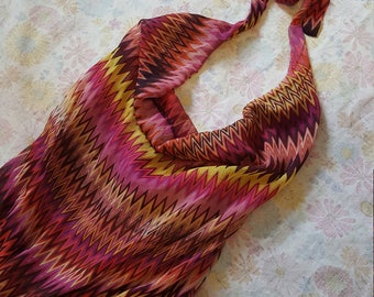 Halter Onesie/Romper, Chevron Pink, Purple, Orange, Red, Yellow, Full-Length, Size Small-Medium
