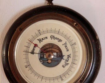 Barometer by Fee & Stemwedel Victorian with mahogany and brass