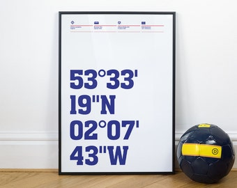 Oldham Athletic Football Stadium Coordinates Posters