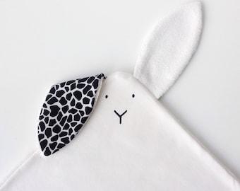 """Handprinted bunny """"doudou"""""""