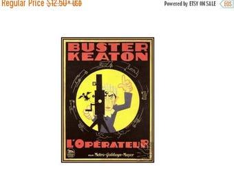 The Camera Man 1928 Buster Keaton - Vintage Poster Print Retro Style Classic Movie Print Free US Post Low EU Postage