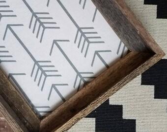 Rustic Wood Framed Bulletin Board Fabric Cork Board Gray Arrow Memo Board Many Sizes Available Reclaimed Wood Farmhouse Pin Board