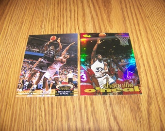 2 Shaquille O'neal (Orlando Magic) Insert Cards