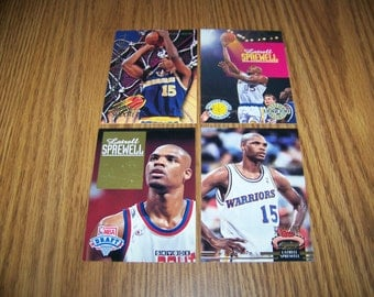 4 Latrell Sprewell (Golden State Warriors) Rookie and Insert Cards