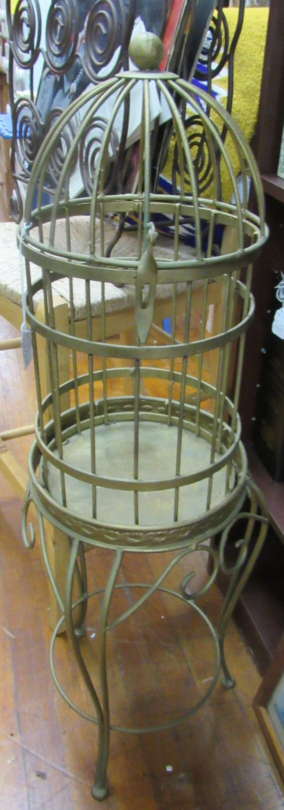 Metal Birdcage Planter