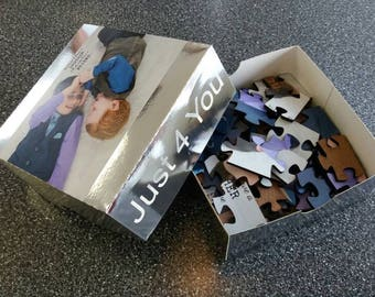 10x12 Custom made wooden puzzle. Send us your quality photo art, we'll laser cut a puzzle & box. How about a gift for mothers of the couple?