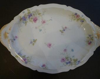 HAVILAND LIMOGES CHINA Platter / Vanity Tray. Theodore Haviland 1910's Limoges Vanity Tray/PlatterFrench Limoges  Elegant Vintage Platter.