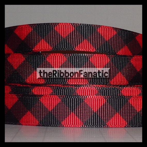 5 Yds 5 8 Quot Red And Black Buffalo Plaid Check Lumberjack