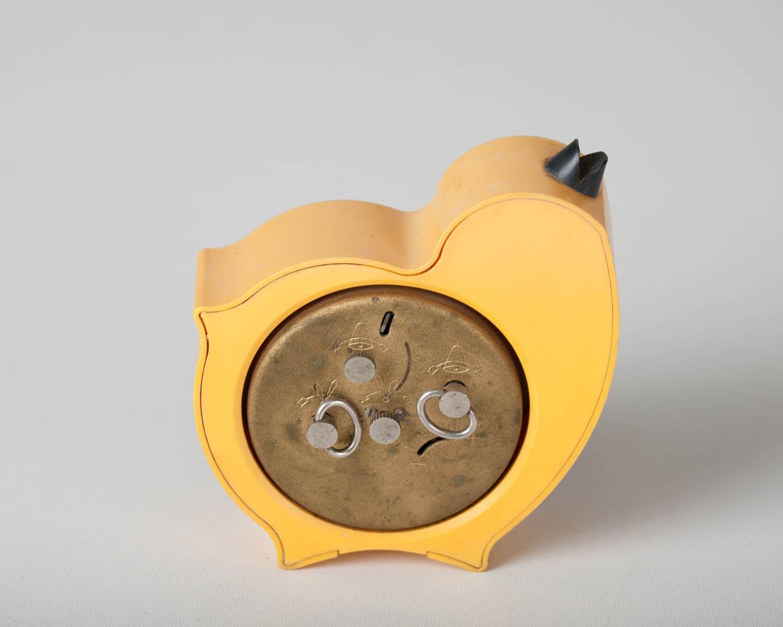 Childrens alarm clock yellow chicken desk clock kids room for Kids room clock