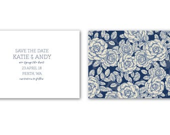 Printable Save the Date | Save the Date | Wedding | Invitation Suite | Vintage Roses Suite