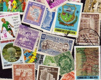 BOLIVIA Stamps, 30 Diff, Bolivia Postage stamps, South American Stamps, Bolivia, Stamps, Postage Stamps,Stamps, Bolivian Stamps