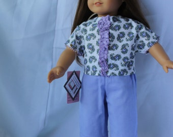 I See Periwinkle and Paisley Capri Set