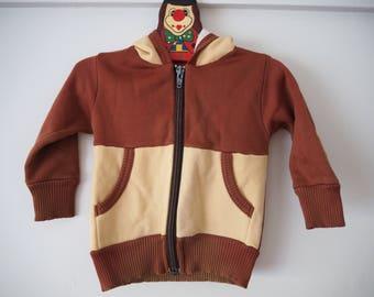 70s brown baby hoodie jacket sz 1