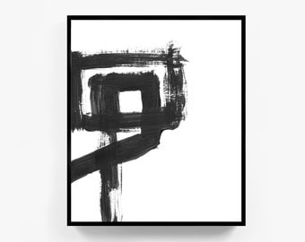 Large Wall Prints, Black and White Painting, Abstract Wall Art, Minimalist Art, Abstract Poster, Wall Art Prints, Large Print, Minimal Decor