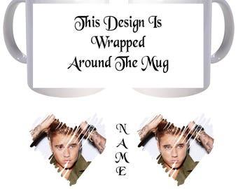 Personalised Mug - Justin Bieber - Style 2