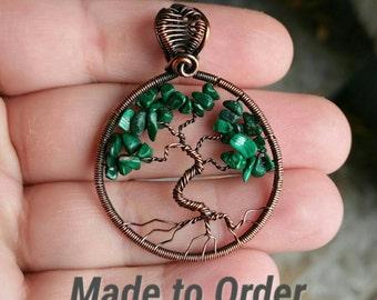 Malachite Tree of life, Stone of Protection, Green Stone