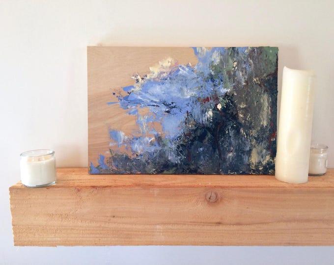 "Acrylic Painting | Abstract Painting | Blue Art | Art Painting | Fine Art | Handmade Art | Rustic Decor | 12""x18"" Painting ""Bagnata"""