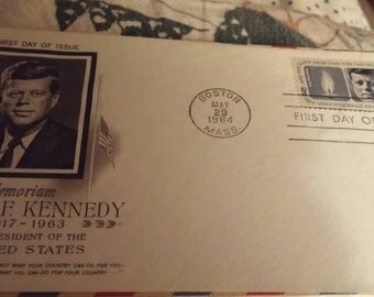John F Kennedy First Day of Issue stamp May 29, 1964.