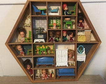 Miniature Doll Diorama - Set - Collection - Littles - Liddle Kiddles - Vintage - F1