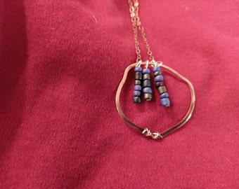 blue clay icicle necklace