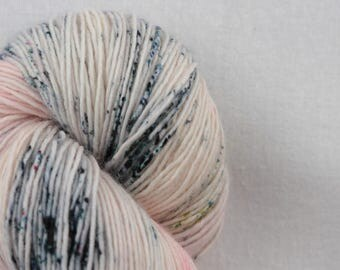 Hand-dyed yarn - sock yarn - superwash - merino - dyed-to-order - speckles - DOLL