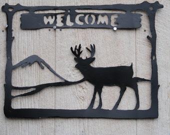 Buck Deer welcome sign.