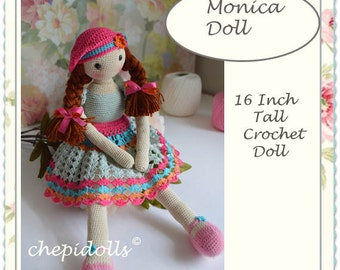Doll, crochet doll, 16 Inch tall finished Chepidoll