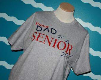 Senior Dad t-shirt - Dad of a senior 2018 shirt - Proud Dad t-shirt - graduation t-shirt for Dad - Proud Dad of a senior 2018 shirt
