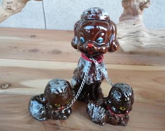 Ceramic Dog Family Figurines