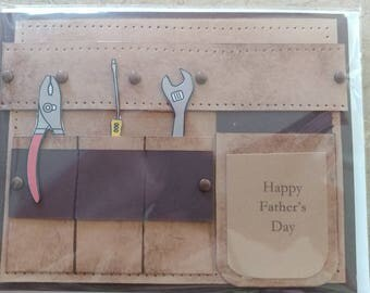 Father's Day ToolBelt Card with Envelope