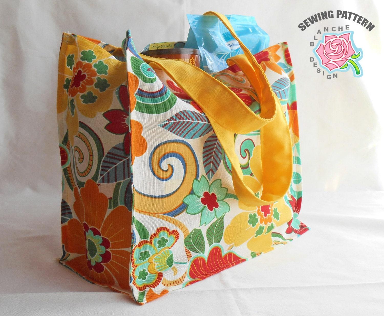 Reusable Grocery Bag Sewing Pattern Reusable Shopping Bag