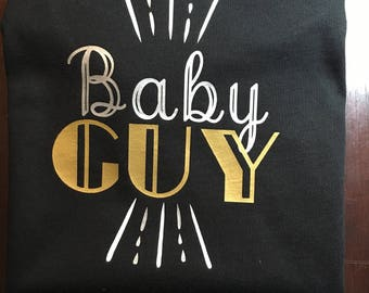 Baby Guy Vinyl Shirt or Onesie