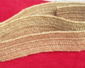 Vintage Jute Burlap  Tight Woven Trim Piece 1 Yard