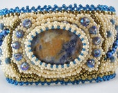 Bead Embroidered Cuff, bead embroidery, cuff bracelet, beaded Cuff, one of a kind, cuff bracelet, unique gift, statement cuff beaded jewelry