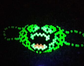 Glow Cheetah Kandi Mask