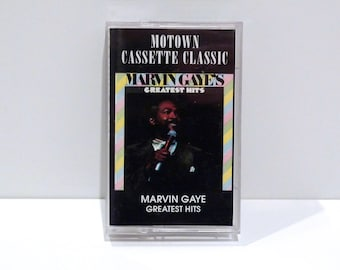 Marvin Gaye Vintage Cassette Tape Greatest Hits 1976 Motown Funk Soul Lets Get It On I Want You Heard It Through The Grapevine Mercy Me