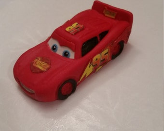 Lightening McQueen cake topper