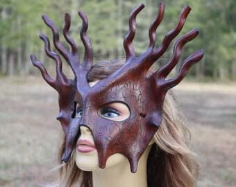 Leather bark mask
