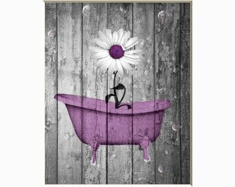 Black white purple wall art photoraphy ocean Purple and gold bathroom accessories