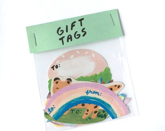 Gift Tags Sticker Labels Fun Pack