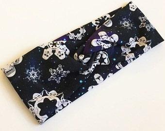 Snowflake Star Wars Knit Headband, Headwrap